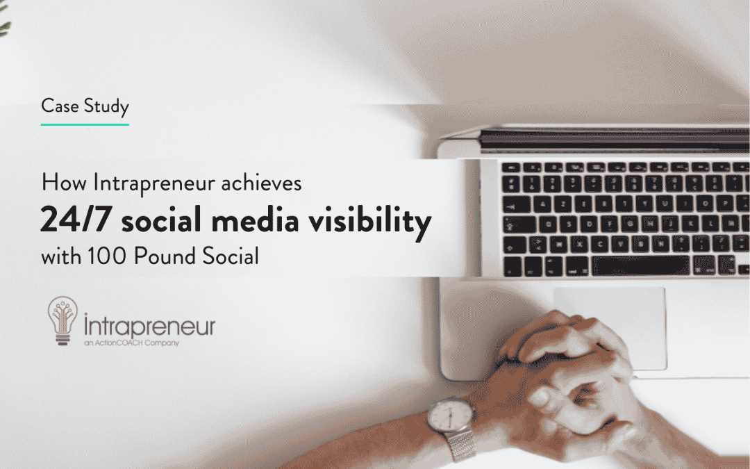 How Intrapreneur Achieves 24/7 Social Media Visibility With 100 Pound Social