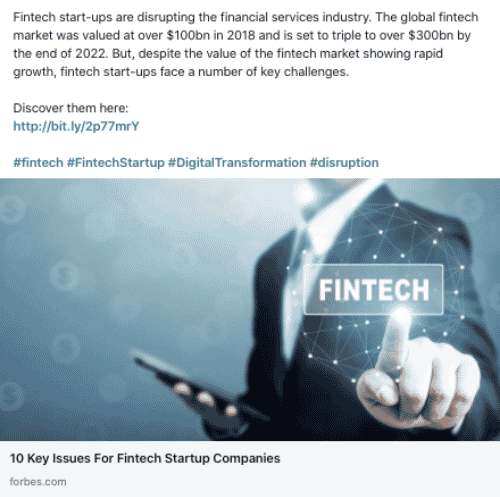 Company type: FinTech Startup Investment & Funding