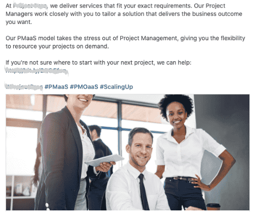 Company type: Technical Project Management