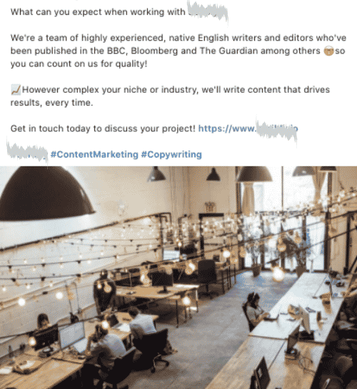 Company type: Content Agency