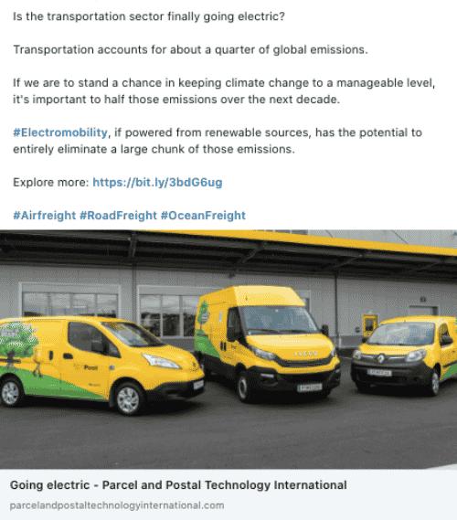 Company type: Logistics