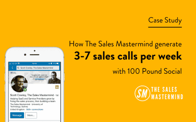How The Sales Mastermind Generate 3-7 Sales Calls Per Week With 100 Pound Social
