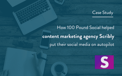 How 100 Pound Social Helped Content Marketing Agency Scribly Put Their Social Media On Autopilot