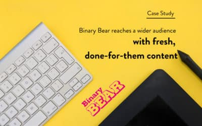 Binary Bear Reaches a Wider Audience with Fresh, Done-For-Them Content