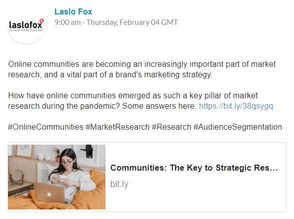 Laslo Fox 100 Pound Social Case Study Post Example