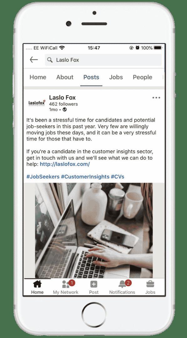 Laslo Fox LinkedIn Mobile Phone Image
