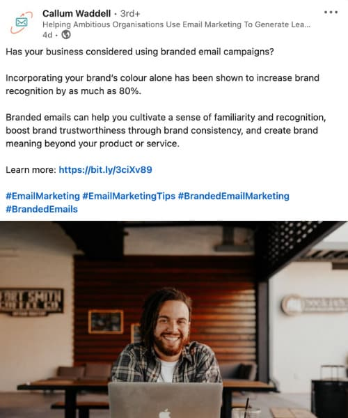 Callum Waddel Email marketing with 100 Pound Social