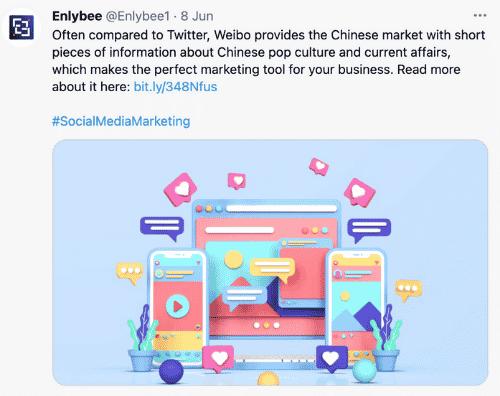 Enlybee Twitter post - 100 Pound Social