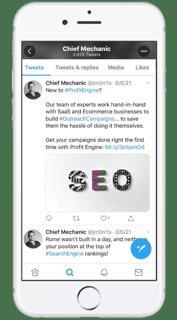 Twitter Profit Engine Jason Morris Social Media Post