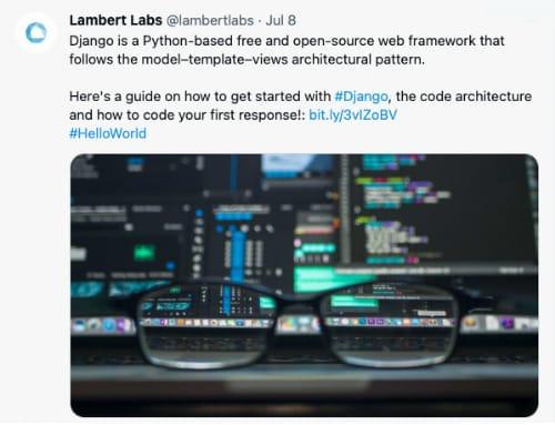 Lambert Labs - Twitter Post - 100 Pound Social